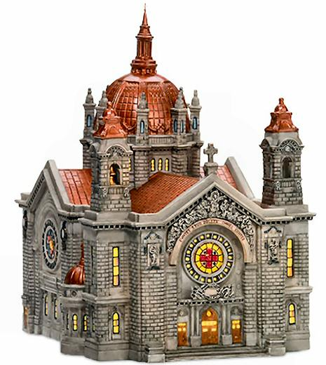 cathedral of st paul copper roof new department dept 56 christmas in the city ebay. Black Bedroom Furniture Sets. Home Design Ideas