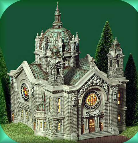 cathedral of st paul green new department dept 56 christmas in the city cic ebay. Black Bedroom Furniture Sets. Home Design Ideas