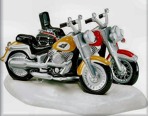 Dept 56 Harley Davidson Fat Boy /& Softail 54900 NEW